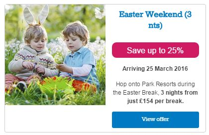 park resorts easter weekend offer