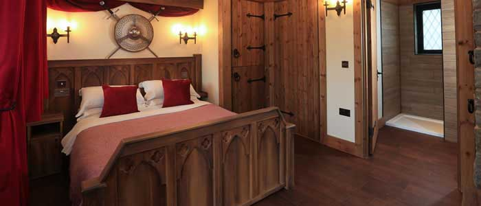 Warwick Castle new Woodland Lodge