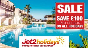 Jet2 Holidays Sale - Save £100pp on 2017 Holidays