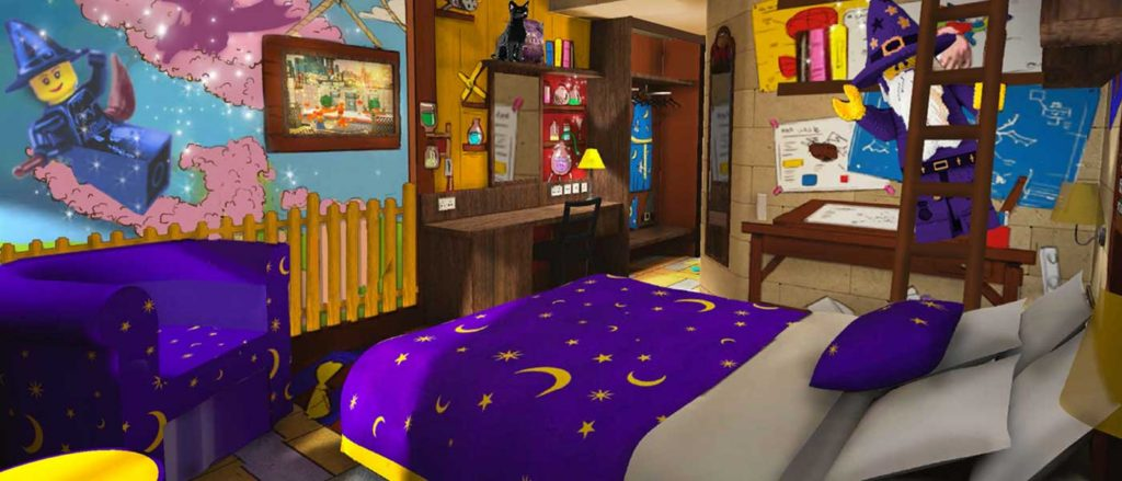 The Wizards Room at the Castle Hotel Legoland