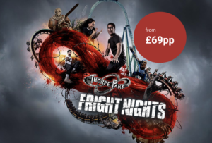 Thorpe Park Fright Night Halloween breaks are back from just £69pp!